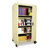 Mobile Storage Cabinets, 36w x 24d x 66h, Putty