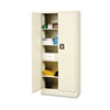 Space Mizer Storage Cabinet, 4 Fixed Shelves, 30w x 15d x 66h, Putty