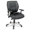 Alera® Napoleon Series Mid-Back Swivel/Tilt Leather Chair