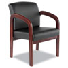 Alera® Reception Lounge Series Wood Guest Chair