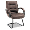 Strada Series Guest Chair, Brown Leather Upholstery
