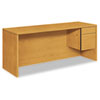 10500 Series Right Pedestal Credenza, 72w x 24d x 29-1/2h, Harvest