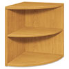 10500 Series Two-Shelf End Cap Bookshelf, 24w x 24d x 29-1/2h, Harvest