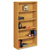 10500 Series Bookcase, 5 Shelves, 36w x 13-1/8d x 71h, Harvest