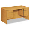 10500 Series Double Pedestal Desk, 60w x 30d x 29-1/2h, Harvest