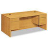 10500 Series Double Pedestal Desk, 72w x 36d x 29-1/2h, Harvest