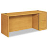 10700 Series Right Pedestal Credenza, 72w x 24d x 29-1/2h, Harvest