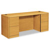 10700 Kneespace Credenza, Full-Height Pedestals, 72w x 24d x 29-1/2h, Harvest