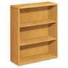 10700 Series Bookcase, 3 Shelves, 36w x 13-1/8d x 43-3/8h, Harvest