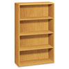 10700 Series Bookcase, 4 Shelves, 36w x 13-1/8d x 57-1/8h, Harvest