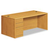 10700 Single Pedestal Desk, Full-Left Pedestal, 72w x 36d x 29-1/2h, Harvest