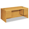 10700 Series Desk, 3/4-Height Double Pedestals, 72w x 36d x 29-1/2h, Harvest