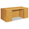 10700 Double Pedestal Desk w/Full-Height Pedestals, 72w x 36d x 29-1/2h, Harvest