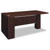 Attune Left Peninsula, Laminate Modesty Panel, 72w x 36d x 29-1/2h, Mahogany