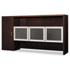 Attune Stack-On/Storage Cabinet, Frosted Doors, 72 x 14-5/8 x 37-1/8, Mahogany