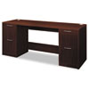 Attune Series Credenza With Kneespace, 72w x 24d x 29-1/2h, Mahogany