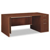 Attune Right Pedestal Desk, Laminate Mod Panel, 72w x 36d x 29-1/2h, Shaker CY
