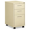 "1600 Series Mobile Box/box/File Pedestal File w/""M"" Pull Drawers, 20d, Putty"