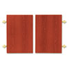 Optional Doors, 1870/1890 Series Laminate Bookcases, 36w x 25-3/4h, Henna Cherry