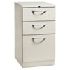 Flagship Mobile Box/Box/File Pedestal, Arch Pull, 19-7/8d, Light Gray