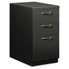 Flagship Mobile Box/Box/File Pedestal, Arch Pull, 22-7/8d, Charcoal