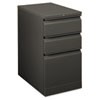 Flagship Mobile Box/Box/File Pedestal, Full Radius Pull, 22-7/8d, Charcoal