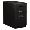 Flagship Mobile Box/Box/File Pedestal, Arch Pull, 28-7/8d, Black