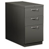Flagship Mobile Box/Box/File Pedestal, Arch Pull, 28-7/8d, Charcoal