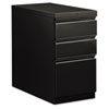 Flagship Mobile Box/Box/File Pedestal, Full Radius Pull, 28-7/8d, Black