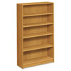 1870 Series Bookcase, 5 Shelves, 36w x 11-1/2d x 60-1/8h, Harvest