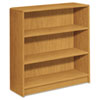 1890 Series Bookcase, 3 Shelves, 36w x 11-1/2d x 36-1/8h, Harvest