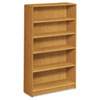 1890 Series Bookcase, 5 Shelves, 36w x 11-1/2d x 60-1/8h, Harvest