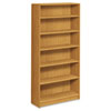 1890 Series Bookcase, 6 Shelves, 36w x 11-1/2d x 72-5/8h, Harvest