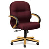 2190 Pillow-Soft Wood Series Mid-Back Chair, Harvest/Wine