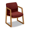2400 Series Guest Arm Chair, Harvest Finish, Burgundy Fabric