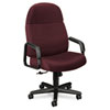 24-Hour Executive High-Back Swivel/Tilt Chair, Burgundy