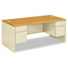 38000 Series Double Pedestal Desk, 72w x 36d x 29-1/2h, Harvest/Putty