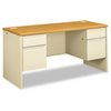 38000 Series Kneespace Credenza, 60w x 24d x 29-1/2h, Harvest/Putty