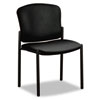 Pagoda 4070 Series Stacking Chairs, Black Vinyl, 2/Carton