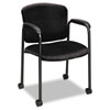 Tiempo Guest Arm Chair with Casters, Black