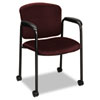 Tiempo Guest Arm Chair with Casters, Wine