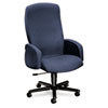 5400 Series Big and Tall Executive High-Back Swivel/Tilt Chair, Blue Fabric