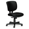 Volt Series Task Chair with Synchro-Tilt, Polyester, Black Upholstery