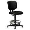 Volt Series Adjustable Task Stool, 27w x 29-1/2d x 49-7/8h, Black