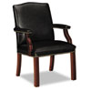 Jackson 6570 Series Crest-Back Guest Chair, Mahogany/Black Leather