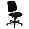 7700 Series Swivel Task chair, Mid-Range Knee-Tilt, Black