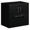 Flagship File Center w/Storage Cabinet & Lateral File, 30w x 18d x 28h, Black