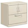 Flagship File Center w/Storage Cabinet & Lateral File, 30w x 18d x 28h, Gray
