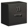 Flagship File Center w/Storage Cabinet & Lateral File, 30w x 18d x 28h, Charcoal