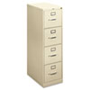 H410 Series Four-Drawer Locking Vertical File, 15w x 22d x 48-3/4h, Putty